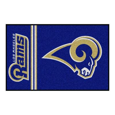 NFL Los Angeles Rams Blue Uniform Inspired 2 ft. x 3 ft. Area Rug