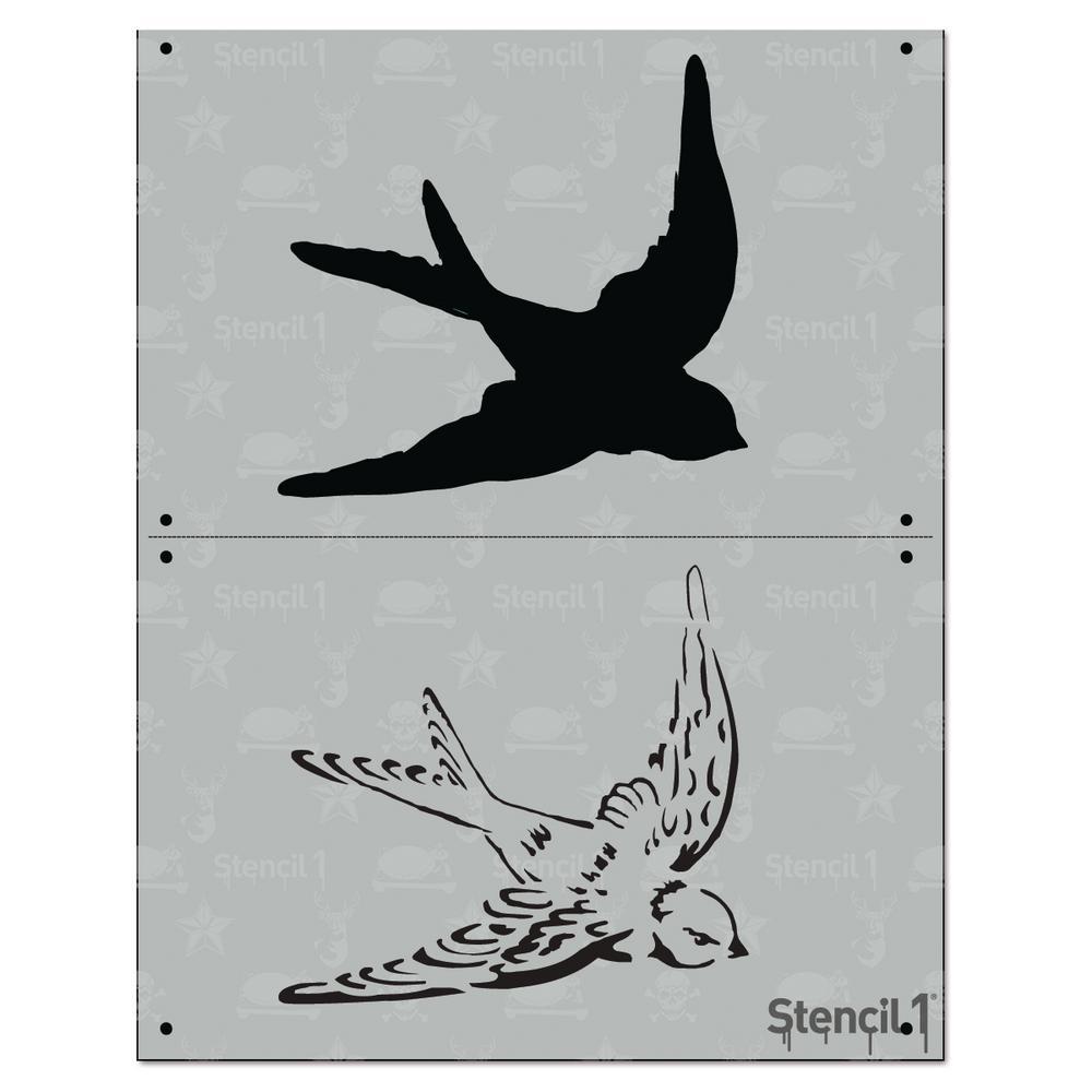 Stencil1 Swallow 2 Layer Stencil S12l99 The Home Depot