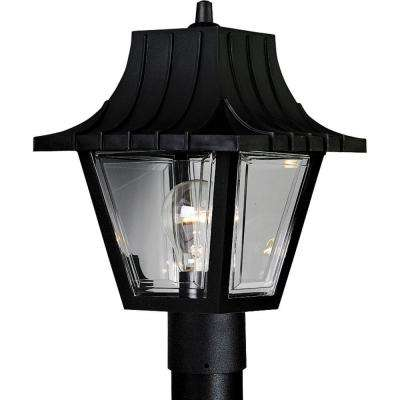 Mansard Collection Outdoor Textured Black Post Lantern