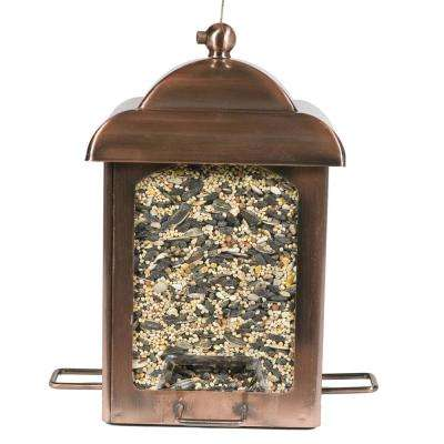 Antique Copper Chalet Bird Feeder