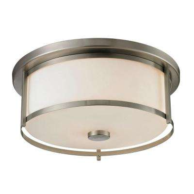 Lacy 3-Light Brushed Nickel Flush Mount