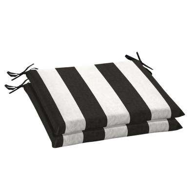 Knife Edge Black Outdoor Seat Cushions Outdoor Chair Cushions
