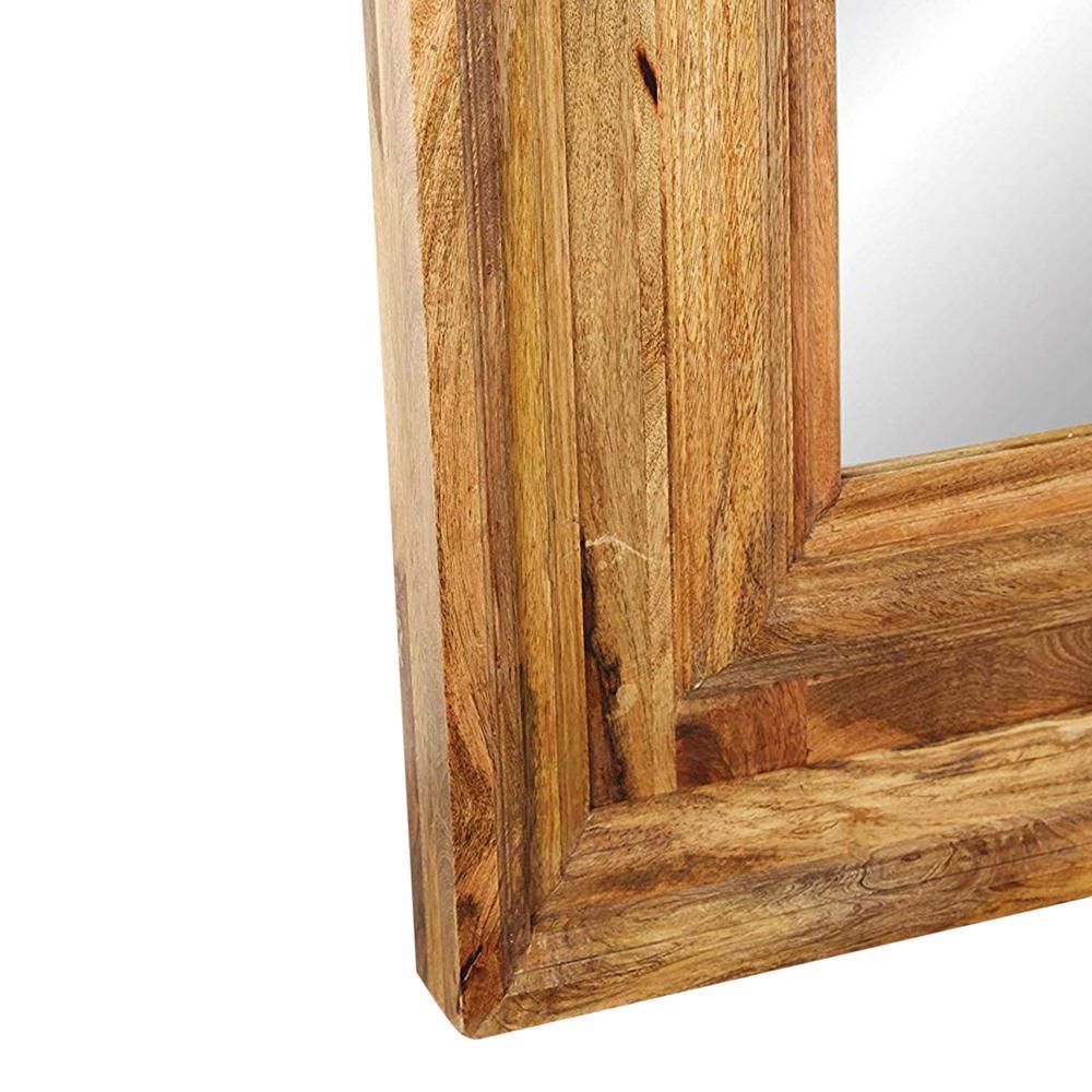 Mango Wood Framed Rectangle Brown Floor