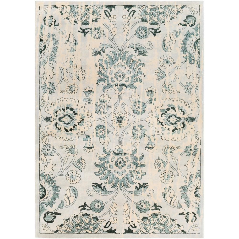 Casselman Green/Cream (Green/Ivory) 7 ft. 10 in. x 10 ft. 3 in. Area Rug