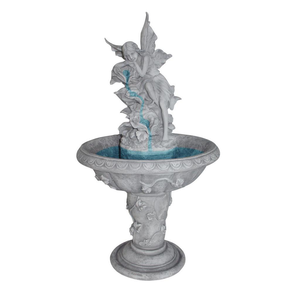 Pixie Fairy Stone Bonded Resin Sculptural Fountain