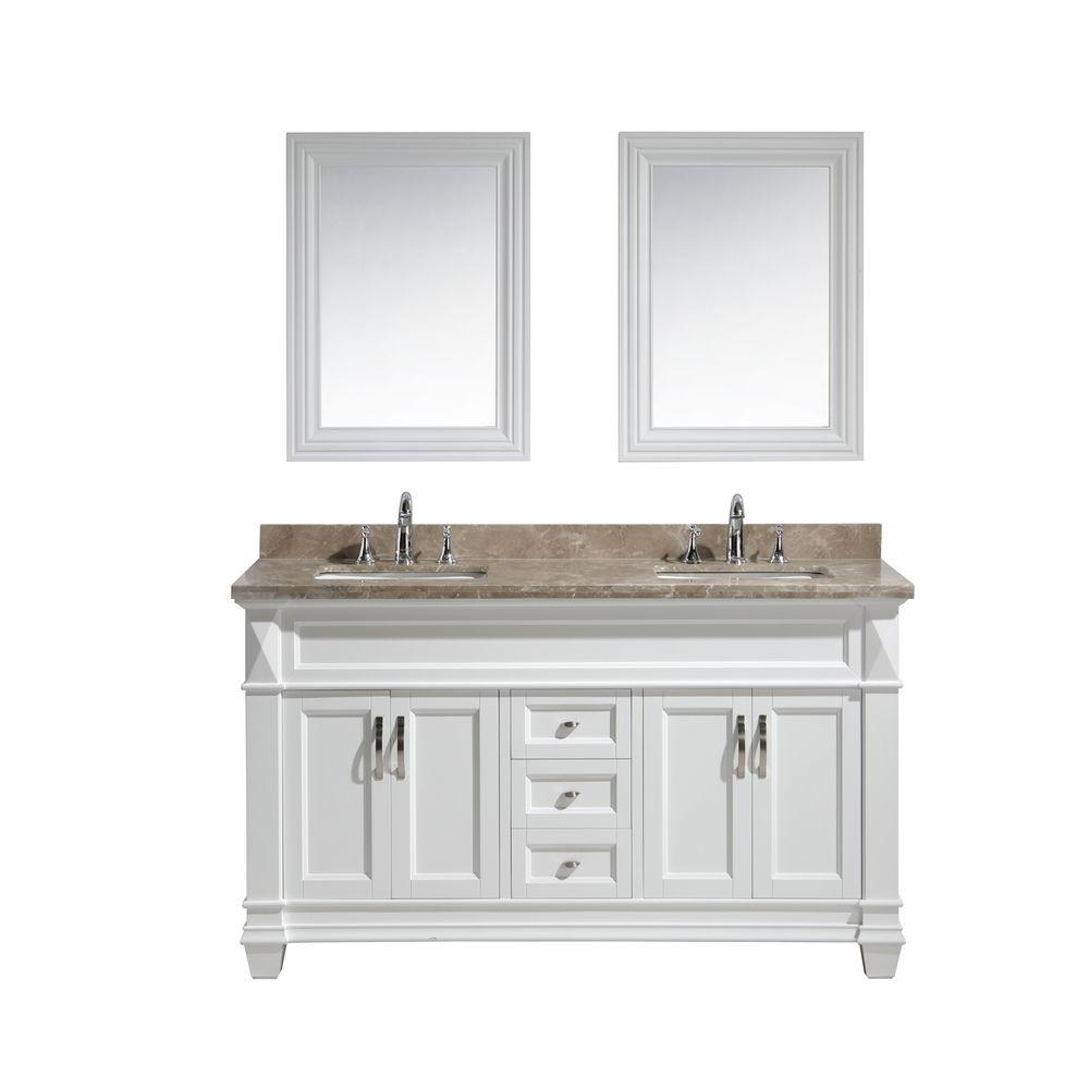 Vanity White Marble Vanity Top Badel Gray Basin Mirror