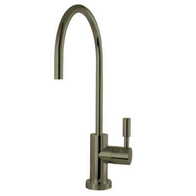 Replacement Drinking Water Single-Handle Beverage Faucet in Black Stainless for Filtration Systems