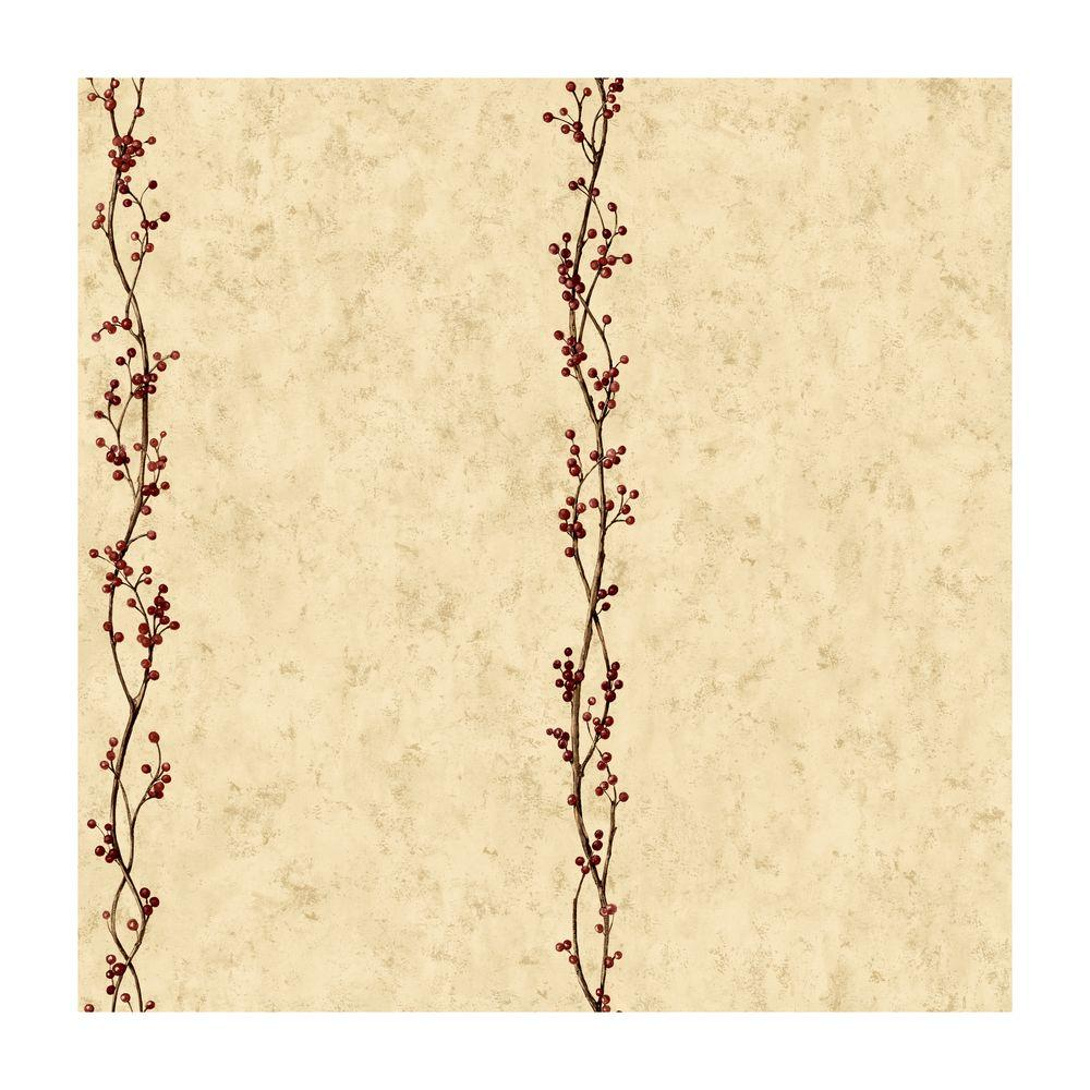 York Wallcoverings 56 sq. ft. Rose Hip Stripe Wallpaper-DISCONTINUED