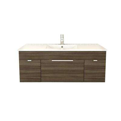 48 Inch Vanities - Light Brown - Floating - Vanities with Tops ...