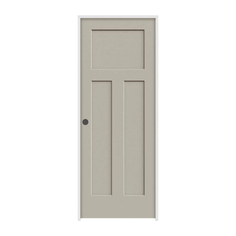 28 in. x 80 in. Craftsman Desert Sand Painted Right-Hand Smooth