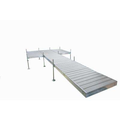 24 ft. L 8 ft. x 12 ft. Platform Style Aluminum Frame with Decking Complete Dock Package