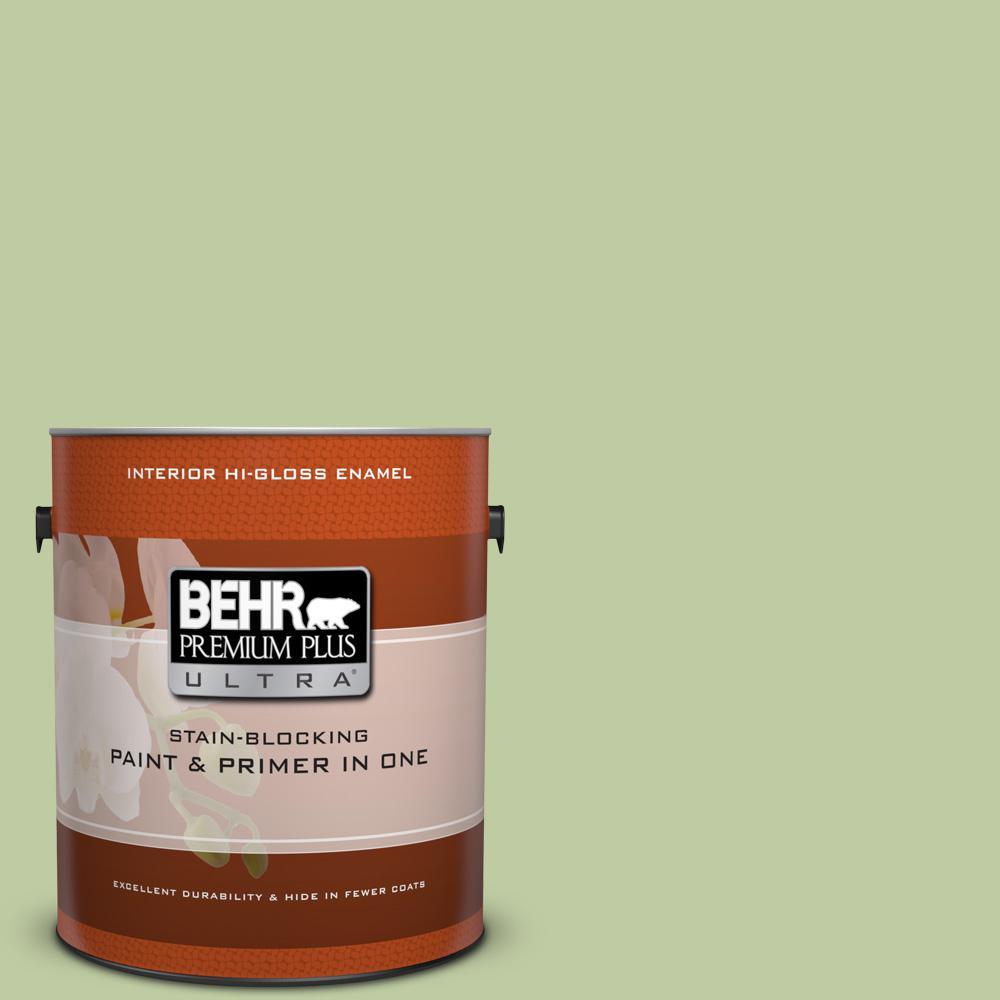 1 gal. #M360-4 Marjoram Hi-Gloss Enamel Interior Paint