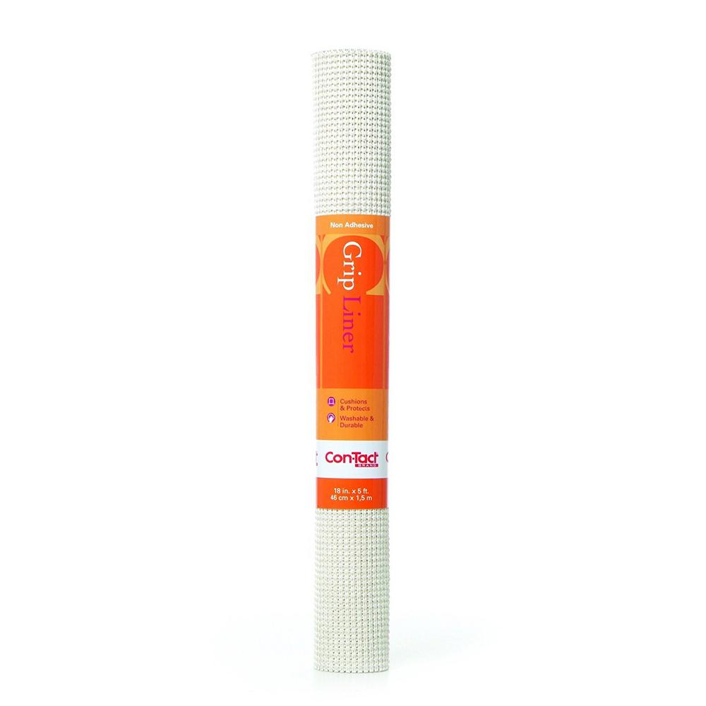 Beaded Grip 18 in. x 5 ft. White Non-Adhesive Drawer and
