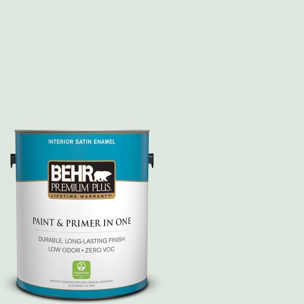 BEHR Premium Plus 1-gal. #450E-1 Shimmer Zero VOC Satin Enamel Interior Paint