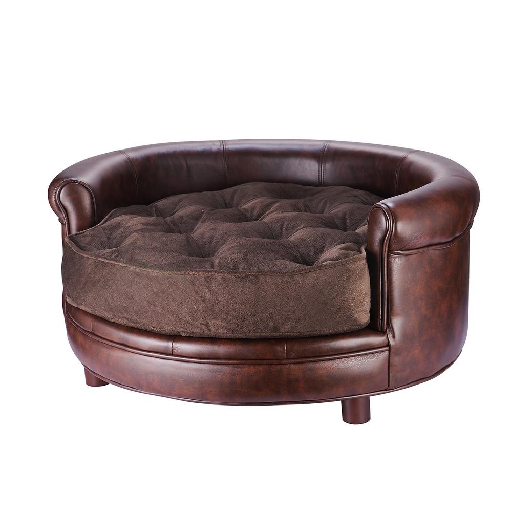 Superb Villacera Chesterfield Large Rustic Brown Pet Bed Creativecarmelina Interior Chair Design Creativecarmelinacom