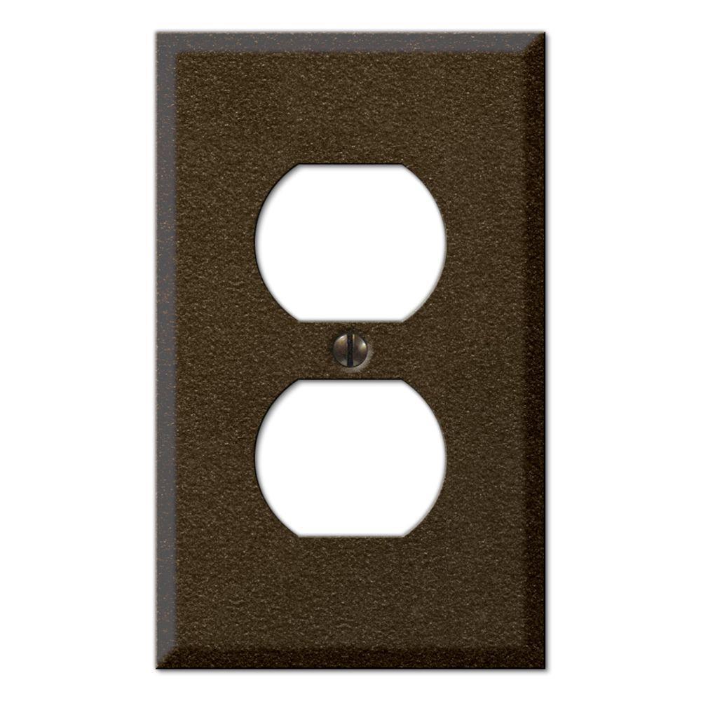 Creative Accents Steel 1 Duplex Wall Plate - Bronze