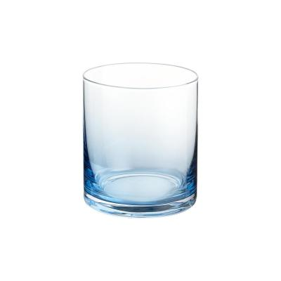 Skylar 12.4 oz. Midnight Blue Ombre Double Old-Fashioned Glasses (Set of 4)