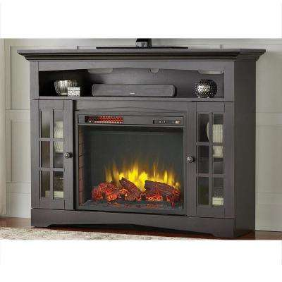 Avondale Grove 48 in. TV Stand Infrared Electric Fireplace in Aged Black