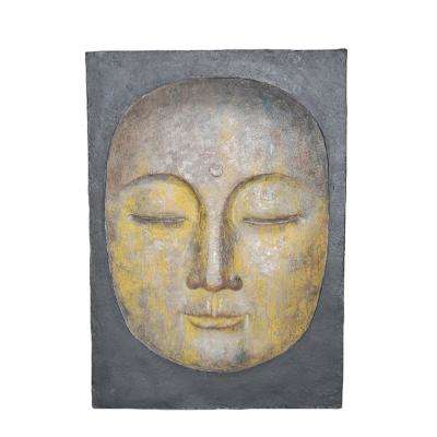 Resin Buddha Face Wall Decor
