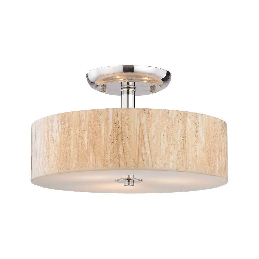 Modern Organics 3-Light Polished Chrome LED Semi Flush Mount