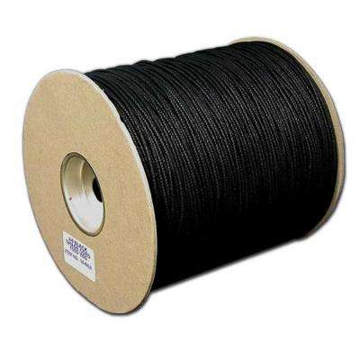 #4 1/8 in. 600 ft. Cotton Shade Cord Unglazed in Black