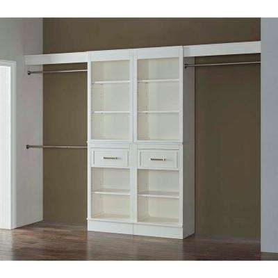 16 in. D x 120 in. W x 84 in. H Parisian White Wood Closet System
