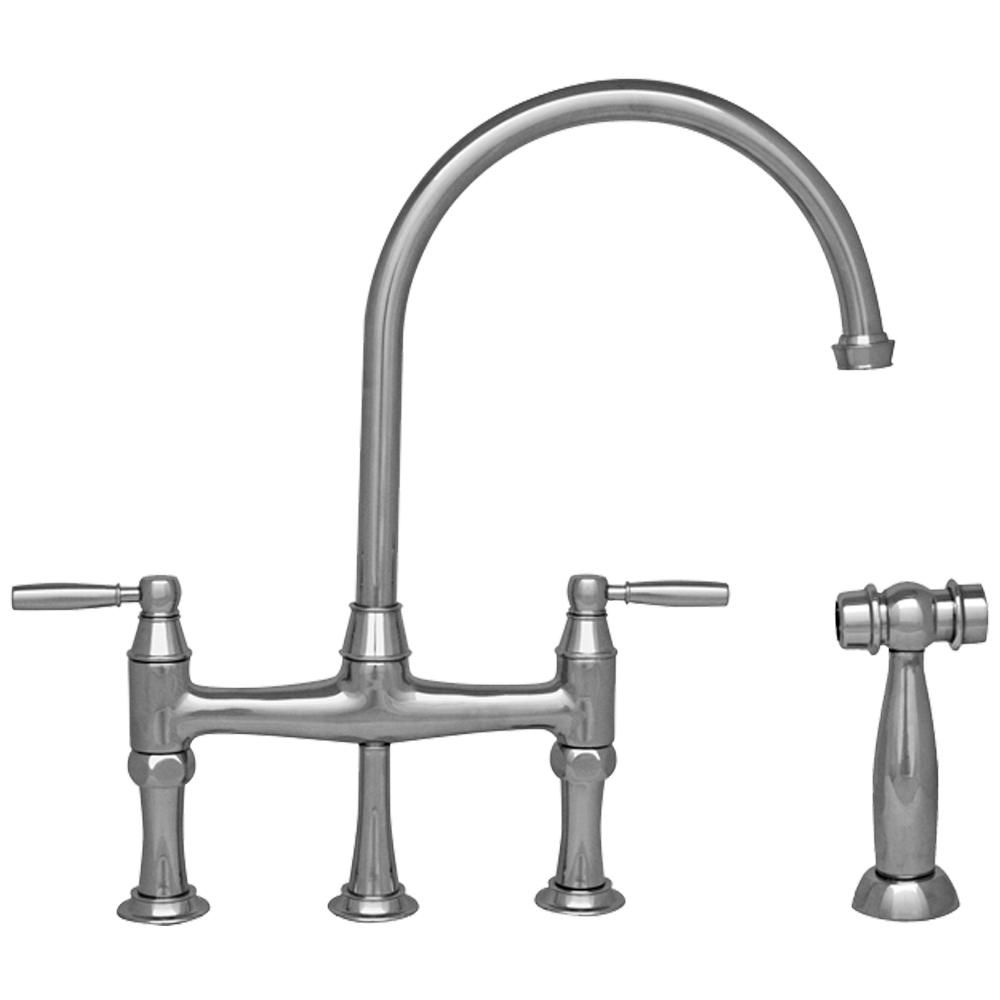 Whitehaus Collection Queenhaus 2-Handle Bridge Kitchen Faucet with ...