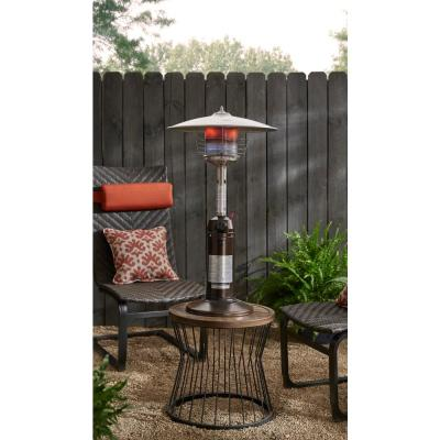 11,000 BTU Powder Coated Bronze Tabletop Propane Patio Heater