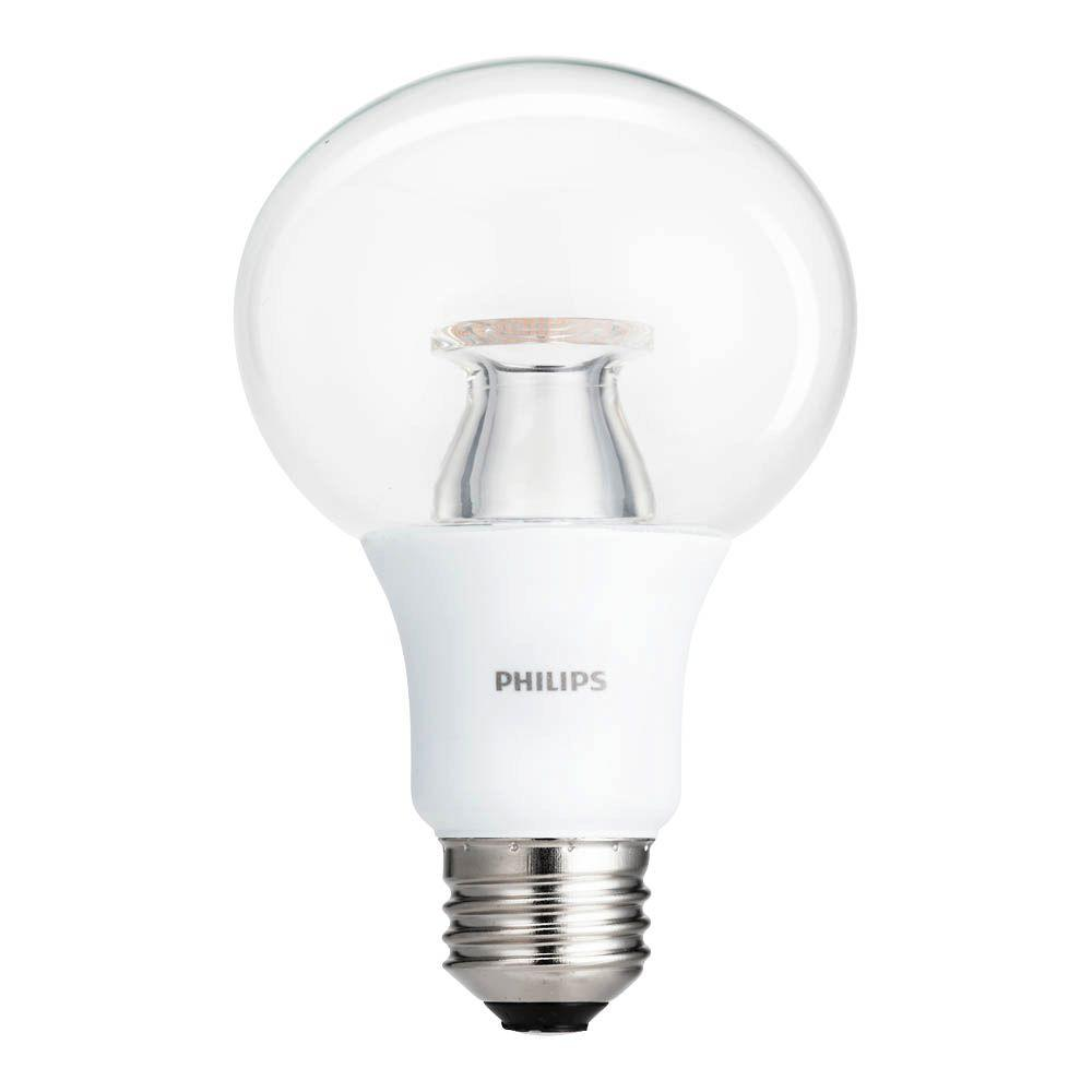 60W Equivalent Soft White A19 LED Clear Light Bulb (8-Pack)
