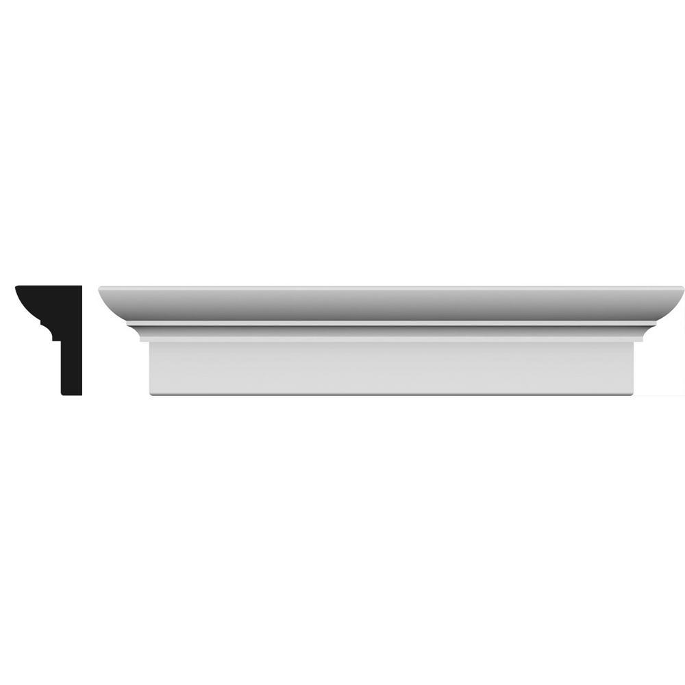 Ekena Millwork 1-1/4 in. x 76 in. x 5-1/2 in. Polyurethane Standard Crosshead Moulding