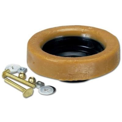 Johni-Ring 3 in. - 4 in. Jumbo Toilet Wax Ring with Plastic Horn and Extra-Long Brass Toilet Bolts