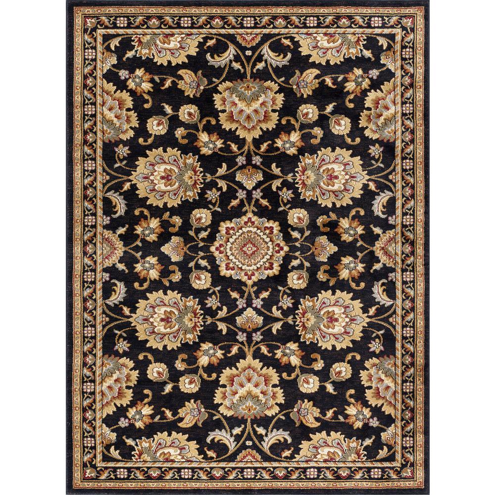 Sensation Black 9 ft. x 12 ft. Traditional Area Rug