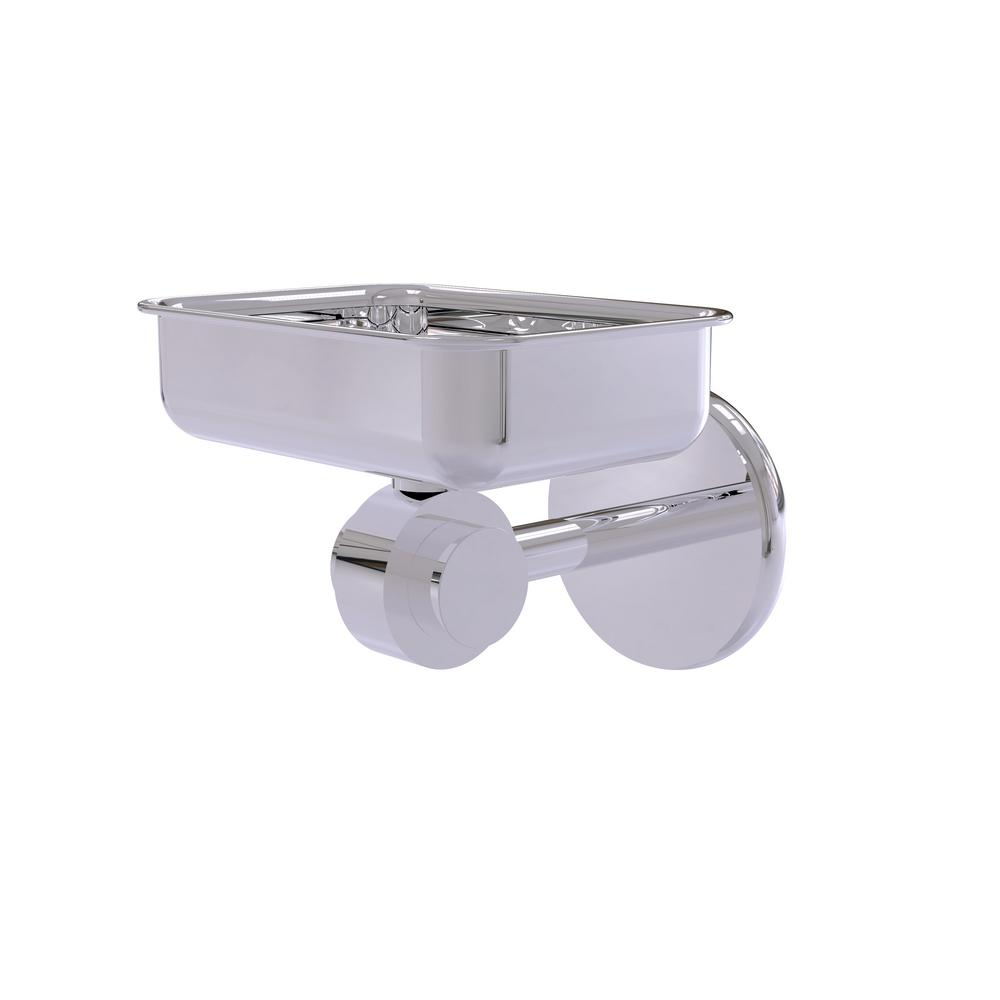 Allied Brass Satellite Orbit Two Collection Wall Mounted Soap Dish in Polished Chrome