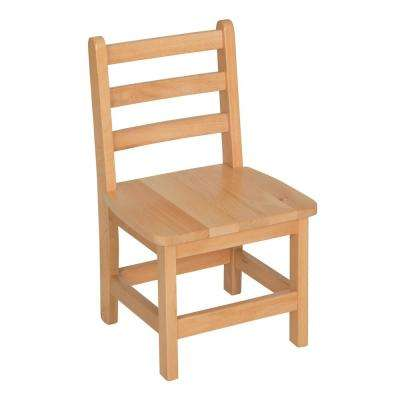 Atlas Natural Wood Classroom Chair with 12 in. Seat Height