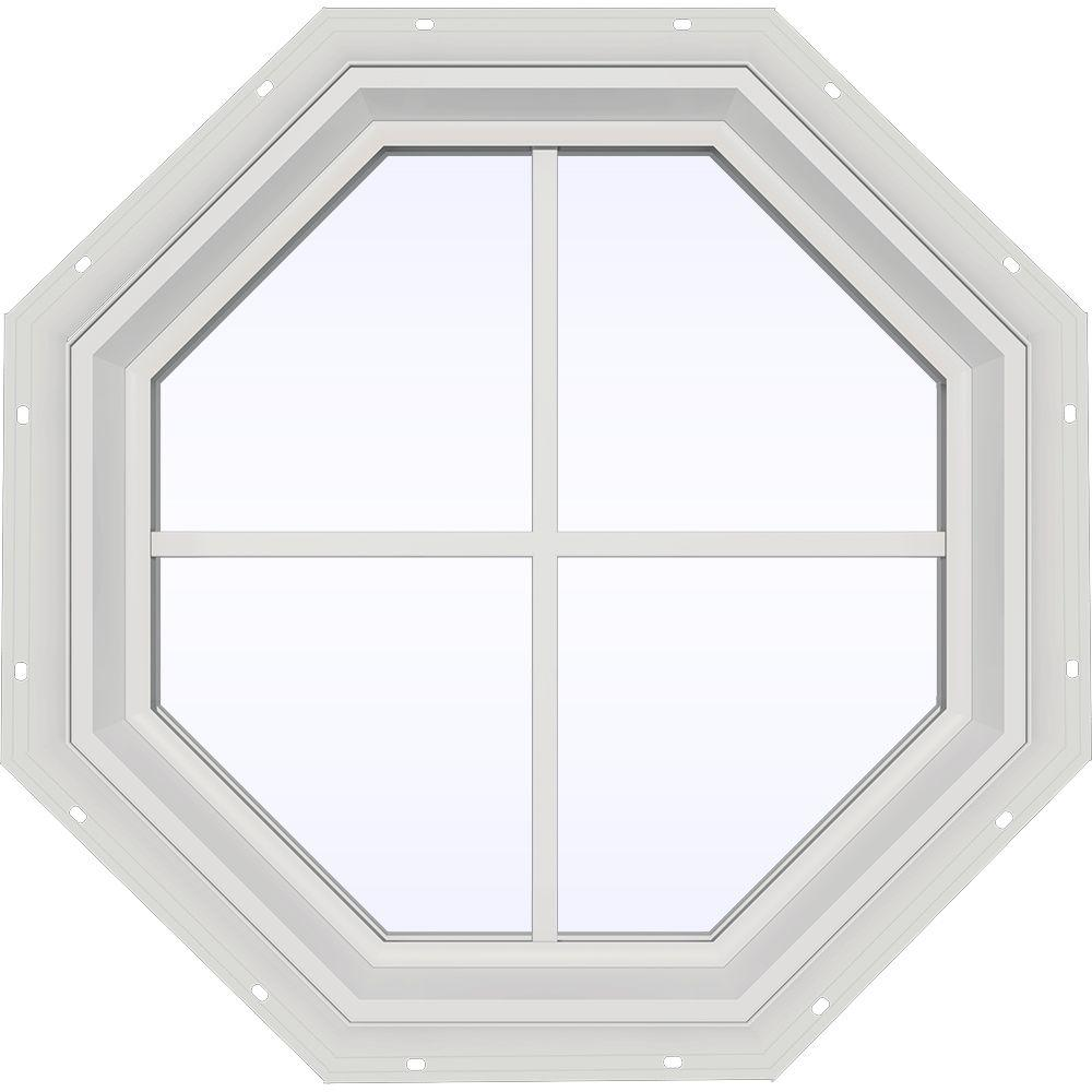 23.5 in. x 23.5 in. V-2500 Series Fixed Octagon Vinyl Window
