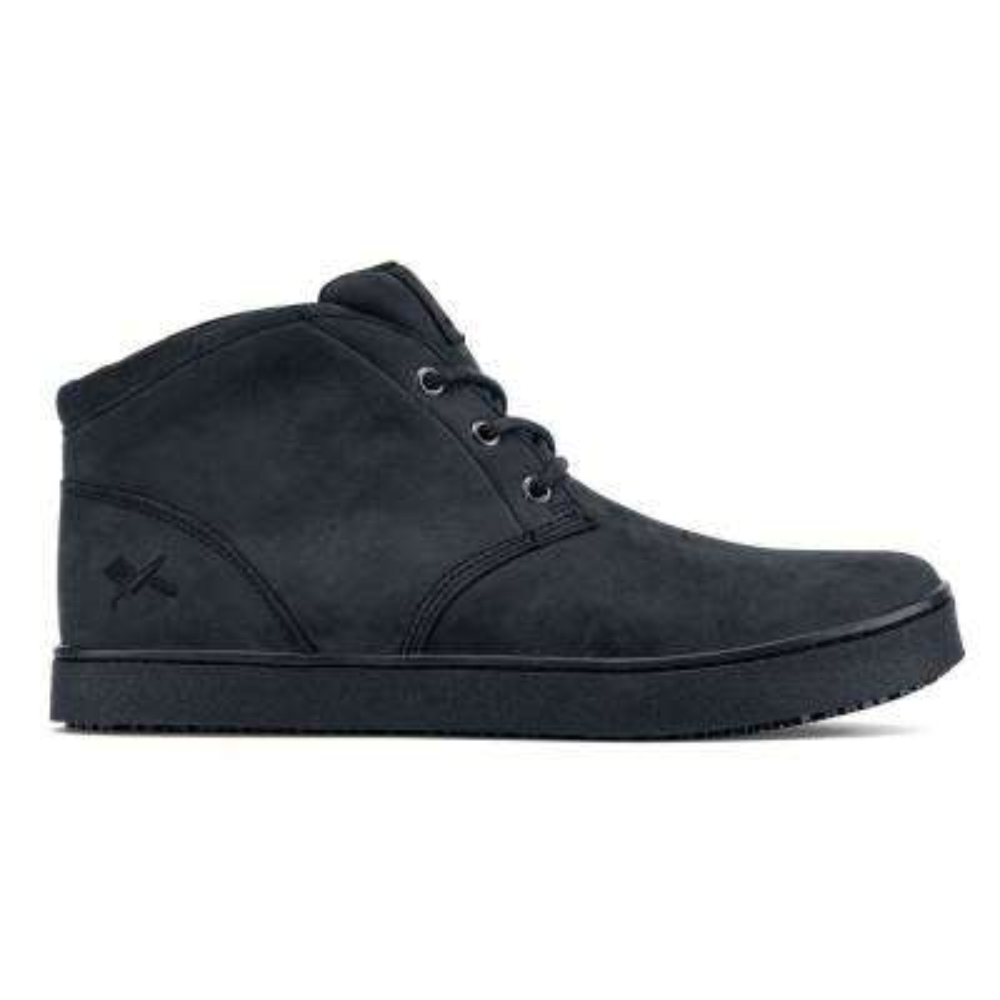 Finn Chukka Men's Size 8.5M Black Leather Slip-Resistant Work Shoe