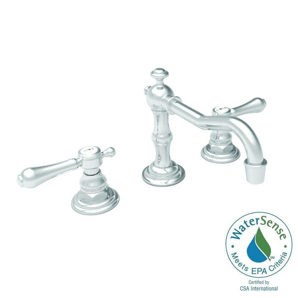 Newport brass chesterfield 8 in widespread 2 handle bathroom faucet in polished nickel 1030 15 Newport brass bathroom faucets