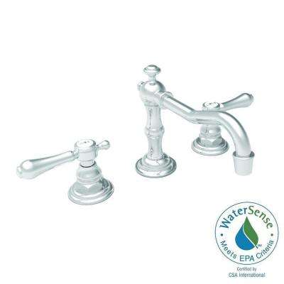 Chesterfield 8 in. Widespread 2-Handle Bathroom Faucet in Polished Nickel