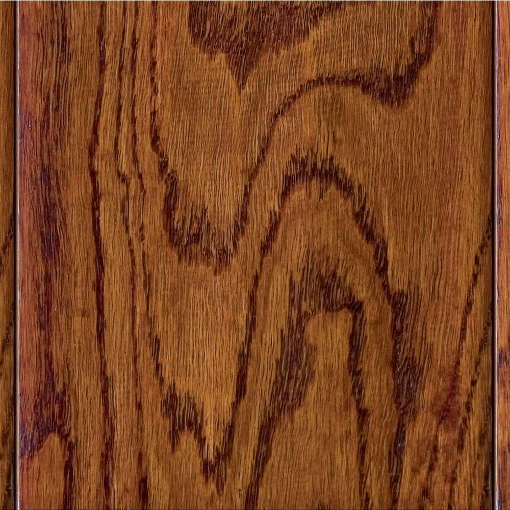 Home Legend Take Home Sample - Hand Scraped Oak Verona Click Lock Hardwood Flooring - 5 in. x 7 in.