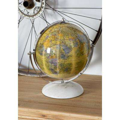 11 in. Decorative Globes with White Bases (Set of 3)