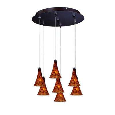 Leopard 7-Light RapidJack Pendant and Canopy