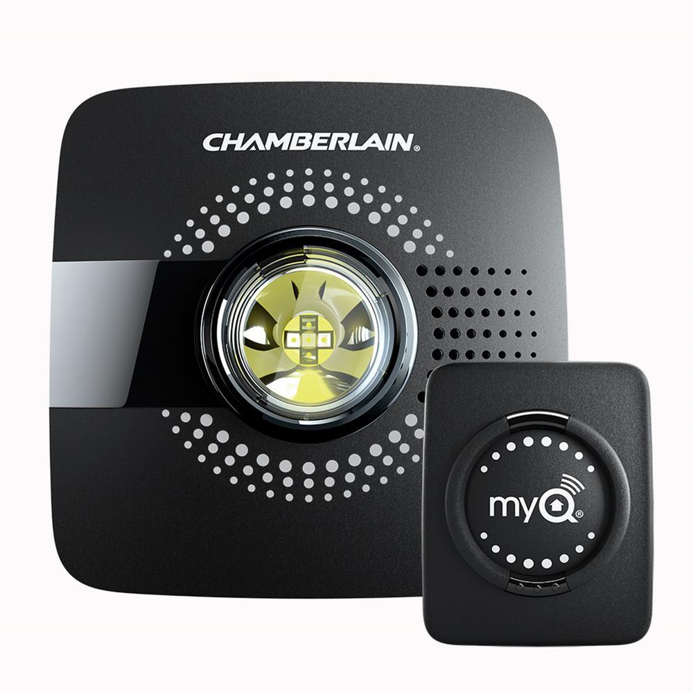Chamberlain 7-3/8 inch W x 6-1/2 inch H Garage Door MyQ Smart Garage Hub Black by Chamberlain