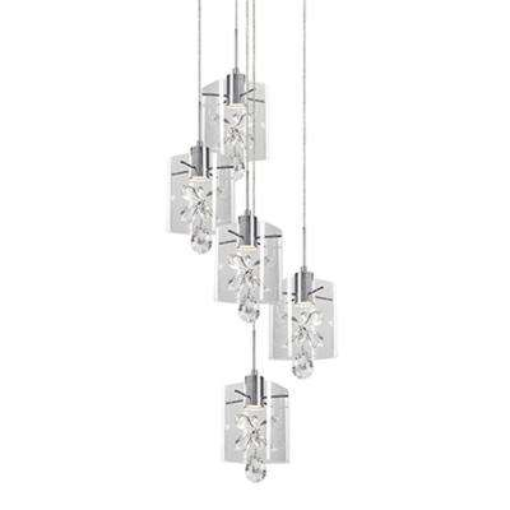 Jessa 1-Light 60-Watt Equivalence Chrome Integrated LED Pendant
