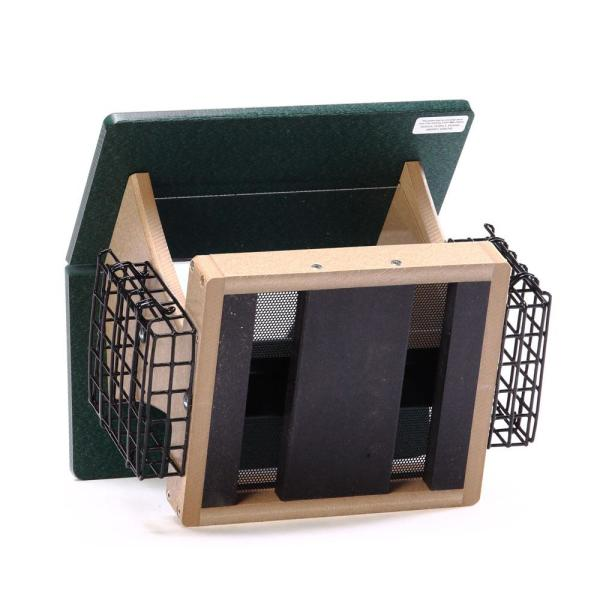 Recycled Medium Fly-Thru Feeder with Acrylic Roof