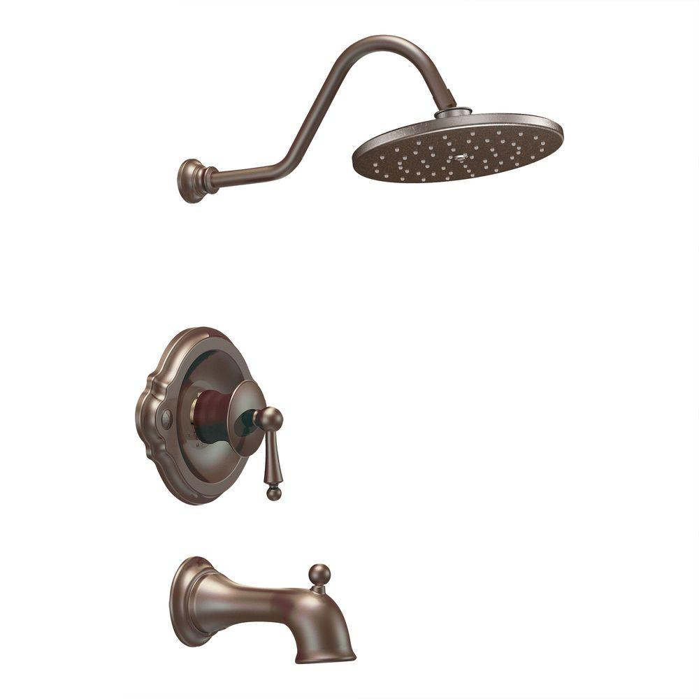 MOEN Waterhill Single-Handle 1-Spray Tub and Shower Faucet Trim Kit in Oil Rubbed Bronze (Valve Not Included)