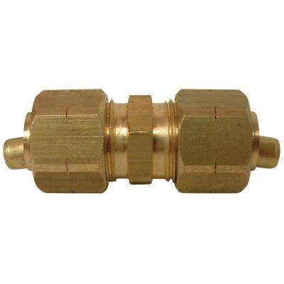 3/8 in. O.D. Lead-Free Brass Compression Coupling
