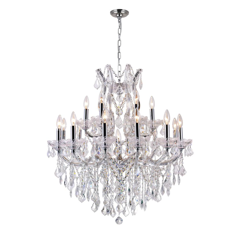 Cwi Lighting Maria Theresa Light Chrome Chandelier Chandeliers