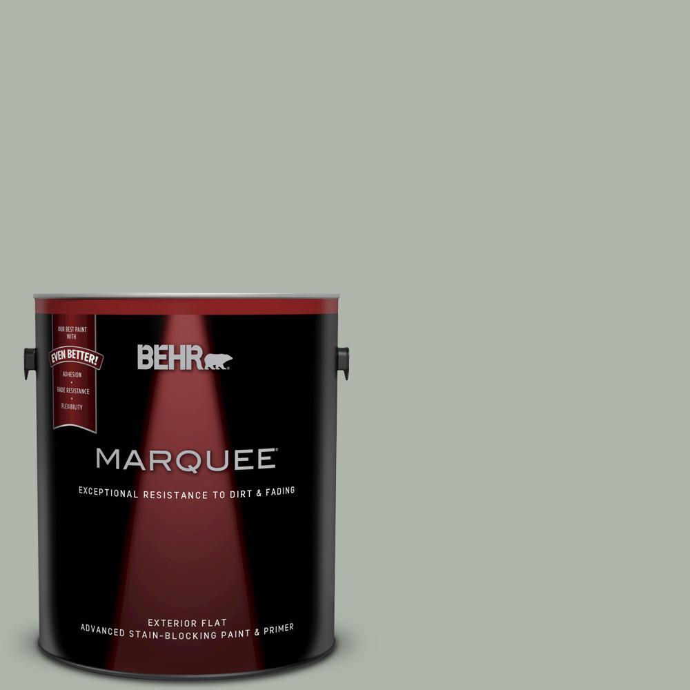 behr marquee 1 gal icc 56 green tea flat exterior paint 445401