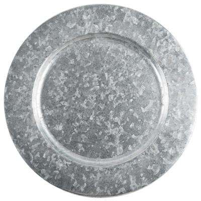 13 in. Single Galvanized Plate Charger