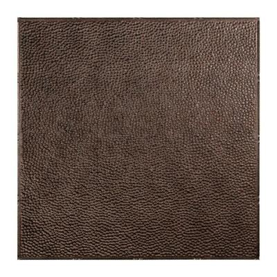 Border Fill 2 ft. x 2 ft. Smoked Pewter Lay-In Vinyl Ceiling Tile (20 sq. ft.)